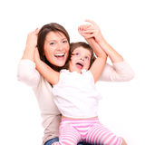 Joyful motherhood Royalty Free Stock Images