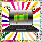 Joyful music background Royalty Free Stock Photos