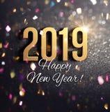 Joyful New Year 2019 Greeting card royalty free illustration