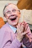 Joyful Old Woman Royalty Free Stock Photo