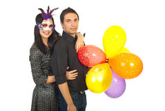 Joyful party couple Royalty Free Stock Photos