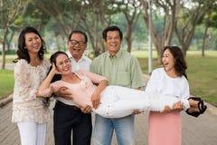 Joyful pensionärer Royaltyfri Bild