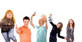 Joyful people Stock Images