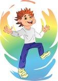 joyful pojke royaltyfri illustrationer