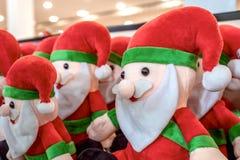 Joyful portrait of puppet doll toys of Santa Claus stock photos