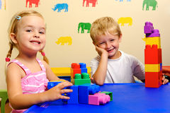 Joyful preschool kids Royalty Free Stock Photography