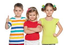 Joyful preschoolers Royalty Free Stock Image
