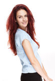 Joyful redhead woman. Royalty Free Stock Photography