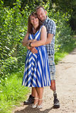 Joyful romantic young couple royalty free stock images