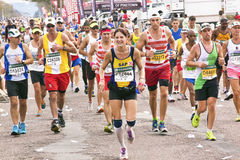 Joyful Runners and Spectators Enjoying Comrades Marathon Stock Photography