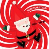 Joyful Santa Claus stock photos