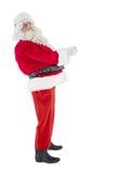Joyful santa claus posing Stock Images