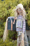 Joyful scarecrow. Royalty Free Stock Photos