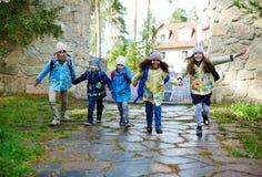Joyful schoolchildren Royalty Free Stock Photography