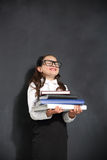 Joyful schoolgirl . Royalty Free Stock Photos