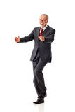 Joyful senior business man Royalty Free Stock Photography