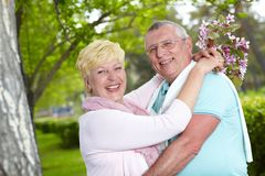 Joyful seniors Royalty Free Stock Photos
