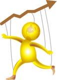 Joyful share market. Beautiful illustrated 3 d image for share market and business Stock Photo