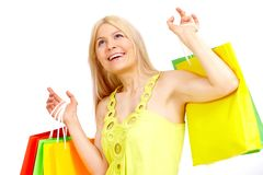 Joyful shopper Royalty Free Stock Photo