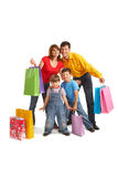 Joyful shoppers Royalty Free Stock Photography