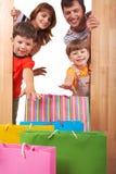 Joyful shoppers Stock Photo