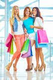 Joyful shoppers Royalty Free Stock Photo