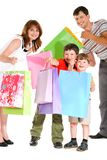 Joyful shopping Stock Images