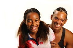 Joyful Siblings Royalty Free Stock Images