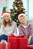 Joyful siblings Stock Photos