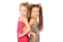 Joyful sisters Stock Image