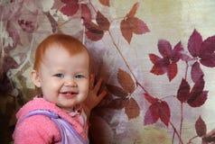 Joyful smile of the little girl Stock Images