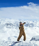 Joyful snowboarder Royalty Free Stock Photography