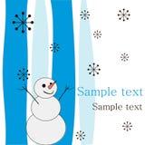 Joyful snowman. Royalty Free Stock Images