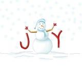 joyful snowman Royaltyfri Bild
