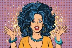 Joyful spectacular glamour girl vector illustration