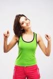 Joyful sporty woman Stock Photos