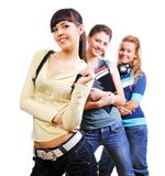 Joyful students Royalty Free Stock Image