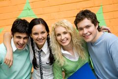 Joyful students Royalty Free Stock Photos