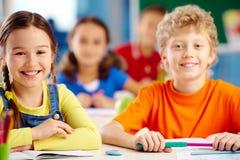 Joyful students Stock Images