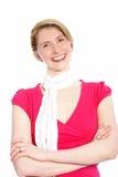 Joyful stylish blond woman Stock Photo
