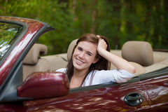 Joyful Teenager Female Driver Cheerful Stock Images
