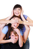 Joyful teenager group Stock Images
