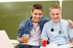 Joyful teenagers Royalty Free Stock Photo