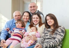 Joyful three generations family Royalty Free Stock Photos