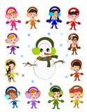 Joyful vinter royaltyfri illustrationer