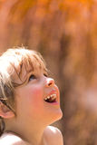 Joyful Wet Little Girl Royalty Free Stock Image