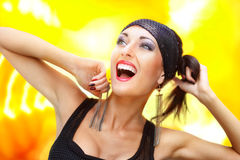 Joyful woman Stock Photo