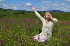 Joyful Woman Communicating Stock Photo