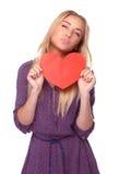 Joyful woman in love Stock Photo