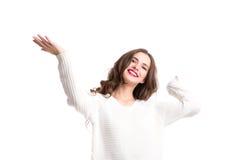 Joyful woman. Royalty Free Stock Images